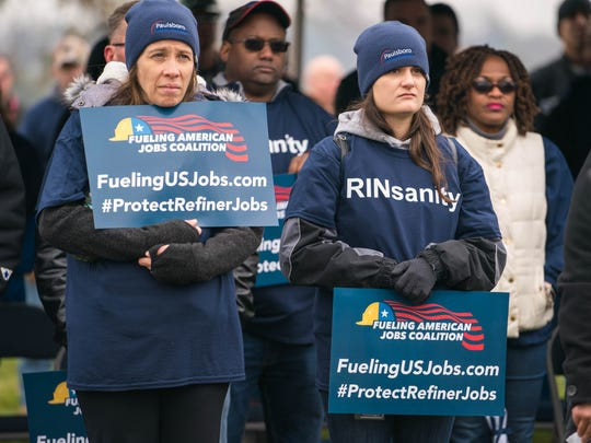 Union leaders, and employees of PBF Energy, Monroe Energy, and Philadelphia Energy Solutions gather Monday morning for a rally to call on President Trump to fix the Renewable Fuel Standard (RFS) and protect well-paying jobs for East Coast refiners and manufacturing   workers.