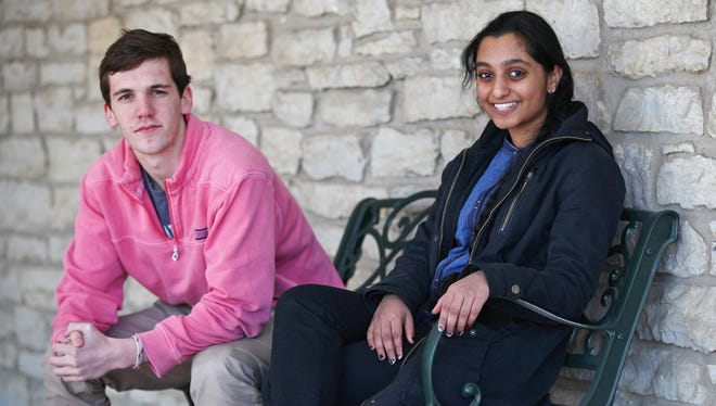 Park Tudor juniors Robert Crossin (left) and Pavani Peri have launched the Kriya Foundation, a student-led non-profit raising money to benefit eye health in India.