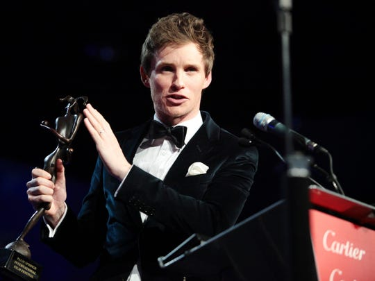 Eddie Redmayne received a Desert Achievement award Saturday at the Palm Springs International Film Festival.