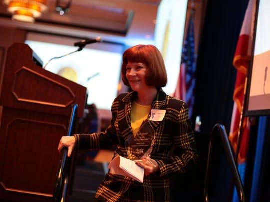 Educator Fern Rudd receives the Helene Galen Excellence in Education Award.