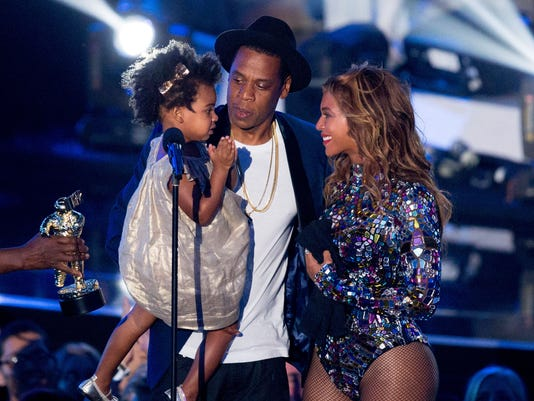 Jay Z and Beyonce with daughter Blue Ivy Carter