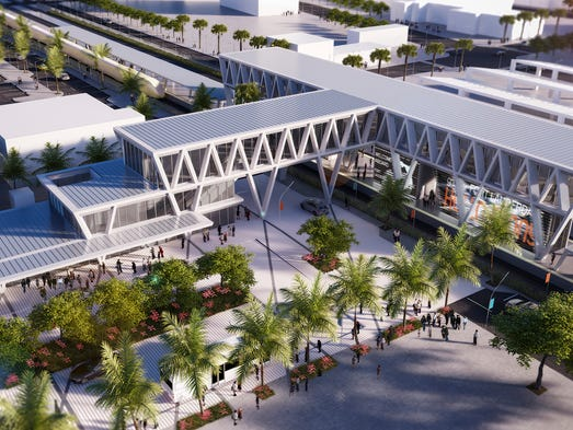 All Aboard Florida's Artist Rendering of the Fort Lauderdale station.