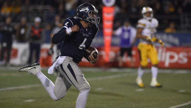 Ty Gangi races into the end zone during a game against Wyoming.