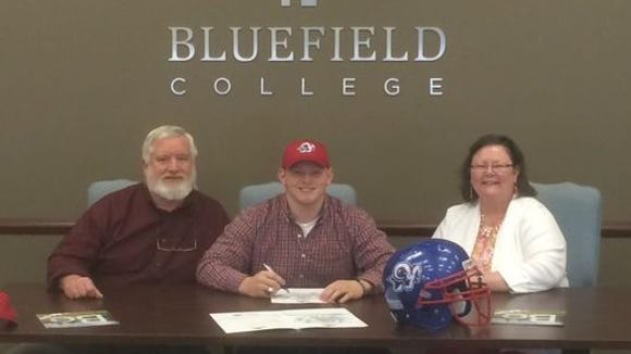 Hendersonville football player Rhett Hoy has signed to play in college for Bluefield (Va.).