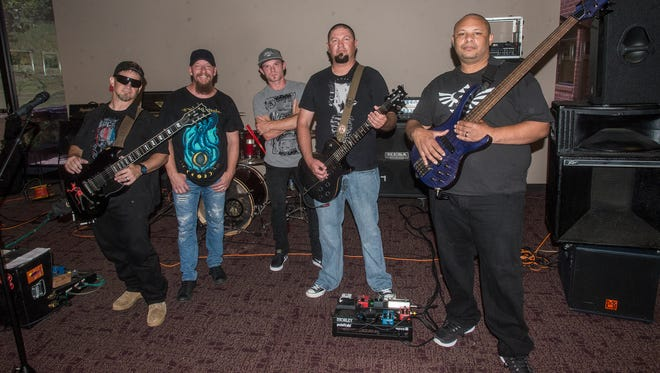 Enterprise metal band CloZure at the Montgomery Advertiser on Sunday, May 6, 2018.