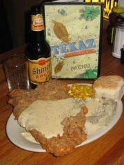 TEXAZ Grill Chicken fried steak is among the offerings