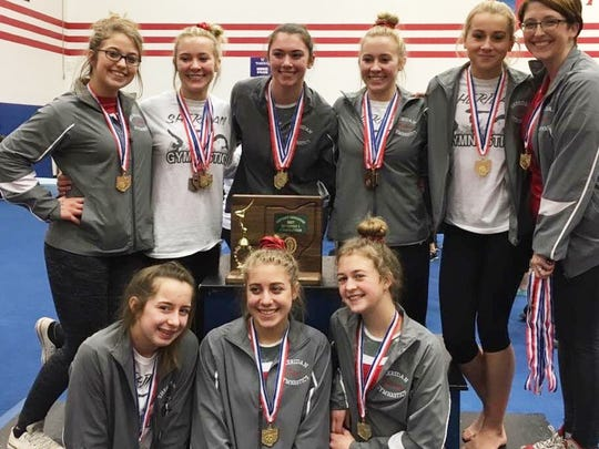 The Sheridan gymnastics team qualified for the state meet for the first time. Coached by Kim Thomas, the team includes, Izzie Thomas, Sarah Snider, Bre Campbell, Madison Snider, Emily Bobo, Kylar Blevins, Alysa Cipriano and Bethany Severance.