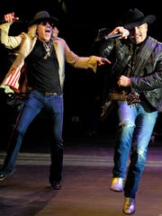 John Rich and Big Kenny of Big & Rich perform on Broadway
