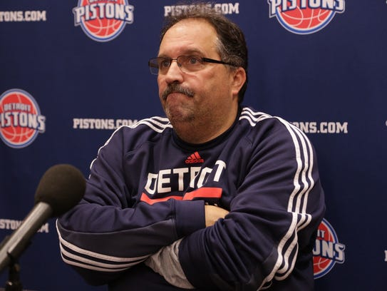 Detroit Pistons president and coach Stan Van Gundy