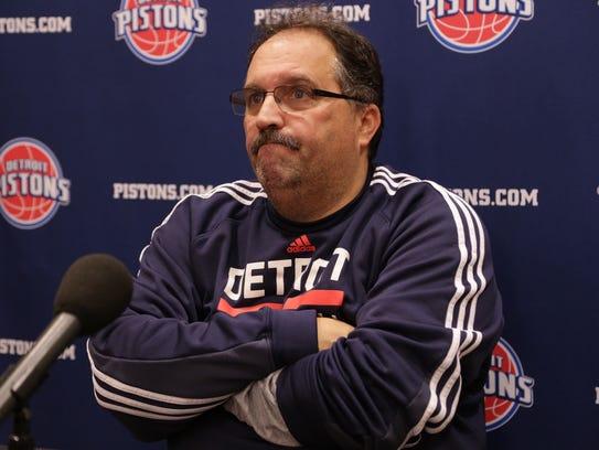 Detroit Pistons president and coach Stan Van Gundy