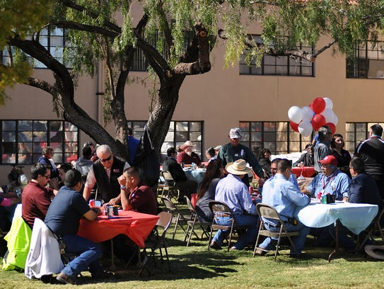NMSU students and employees turn out for a special