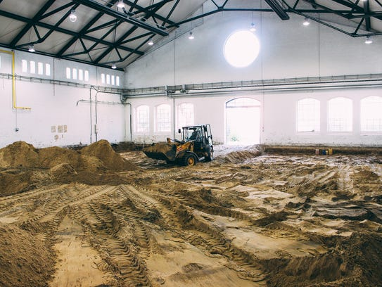 The construction inside Stone Brewing Co.'s new Berlin