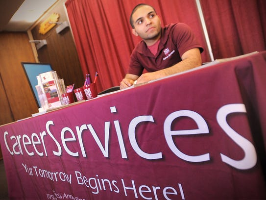 NMSU student and Career Services Department employee