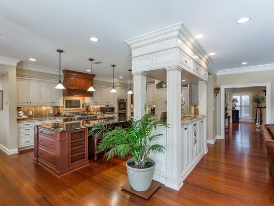 4945 Castayls Road, the living space opens to the kitchen.