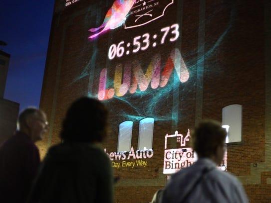 How LUMAs Lights In Binghamton Will Tell A Worldwide Story - Digital advertising map luma 2016 us