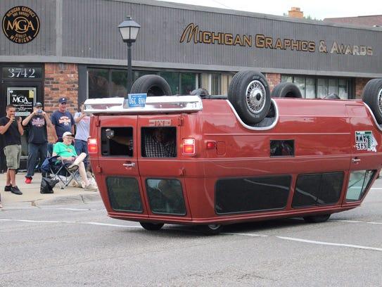 F Car Driving Upside Down