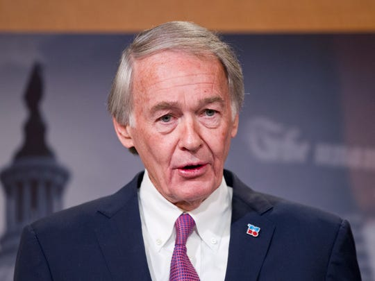 Sen. Edward Markey, D-Mass., speaks at a news conference on opioid and heroin abuse on Thursday, Feb. 11, 2016, on Capitol Hill.