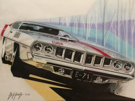 Classic Car Advertising Concept Art On Display In Royal Oak