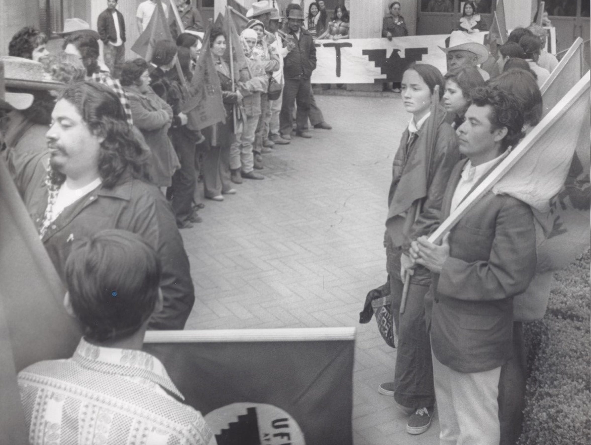 The labor strike in 1974. The Chicano/Chicana movements
