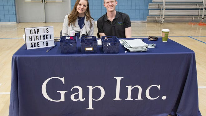 Gap Inc. is hiring more than 900 seasonal positions in Gallatin. The company participated in the Youth Job Fair at the Gallatin Civic Center on April 12.