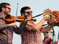 The Revelers, which include, from left, Daniel Coolik, Blake Miller and Eric Frey, jam at the 2015 Experience Louisiana Festival in Eunice.
