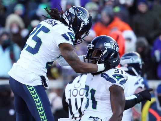 USP NFL: NFC WILD CARD-SEATTLE SEAHAWKS AT MINNESO S FBN USA MN