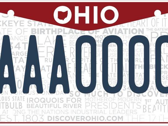 Ohio license plate.