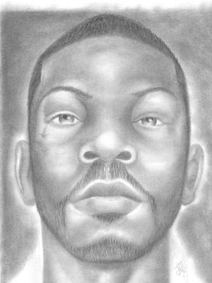 A recent self-portrait by Rojai Fentress, from August 2016. Fentress is less than halfway through a 53-year sentence for murder. He went to prison when he was 17.