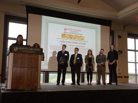 Cedar Grove school officials are recognized at the Todd Ouida Children's Foundation Conference held at Montclair State University Thursday, May 11, 2017.