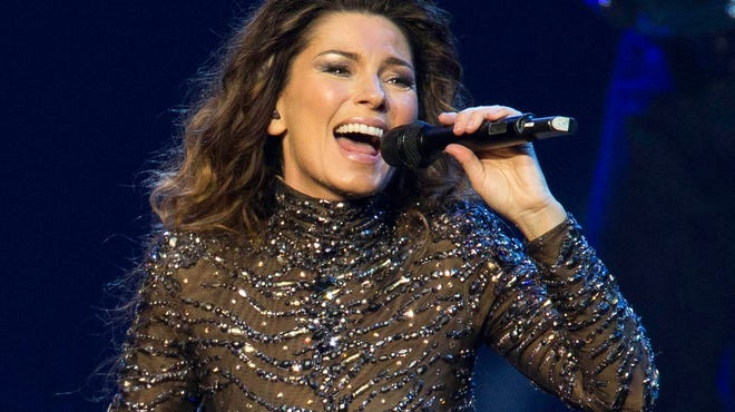 Shania Twain is shown performing in 2012 at the Colosseum at Caesars Palace in Las Vegas. Twain says she'll end her residency in Las Vegas with a final show Dec. 13, two years after she began performing at Caesars Palace.