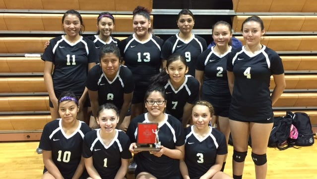 The Mescalero volleyball team played in the 2A District 3 Championship for the first time in the team's history.