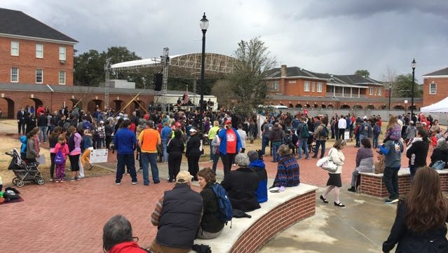 Citizens from across Acadiana gathered in Lafayette Saturday for a pro-life rally and march in solidarity with the annual March for Life in Washington D.C. that occurred Friday.