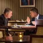 "Alec Baldwin, left, and Will Smith star in the movie ""Concussion,"" now playing in El Paso-area theaters."