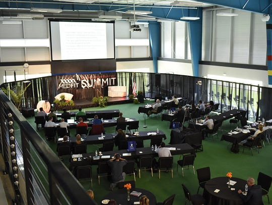 People gather for the Regenerative Business Summit