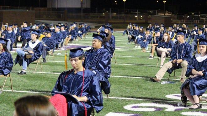 Stephenville High School's Class of 2020 finally got together one last time, for their commencement exercise Friday night at Tarleton's Memorial Stadium.