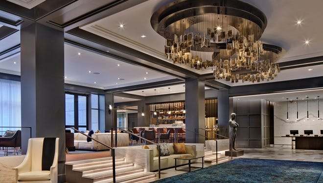 The lobby at The Logan Philadelphia, a Curio Collection by Hilton.