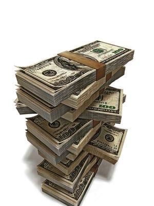 Stack of money.