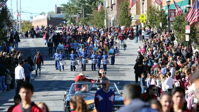 """The 39th annual """"It's Great to Live in Harrison"""" parade on Columbus Day."""