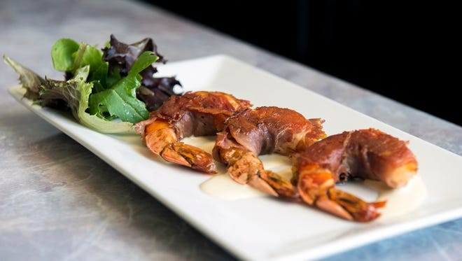Crisp prosciutto wraps jumbo shrimp in this appetizer at Mount Laurel's Trattoria Figaro. The restaurant is participating in SJ Hot Chefs Farm to Fork Restaurant Week.
