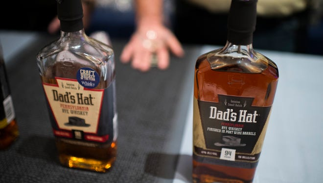 Bottles of of Dad's Hat whiskey during Philadelphia Magazine's Whiskey Fest Thursday, Oct. 27 in Philadelphia.