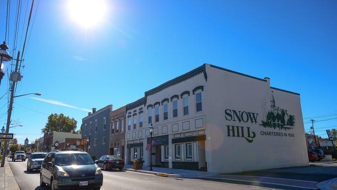 Downtown Snow Hill. Nov, 8, 2016.