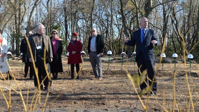 Governor Jack Markell speaks on Thursday, Dec 1, 2016. during the Delaware Botanic Gardens at Pepper Creek in Dagsboro groundbreaking ceremony.