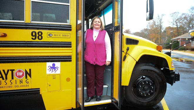 Gonna Cobb, Bus Driver with Indian River School District, saved an infant from traffic. Tuesday, Dec. 6, 2016.