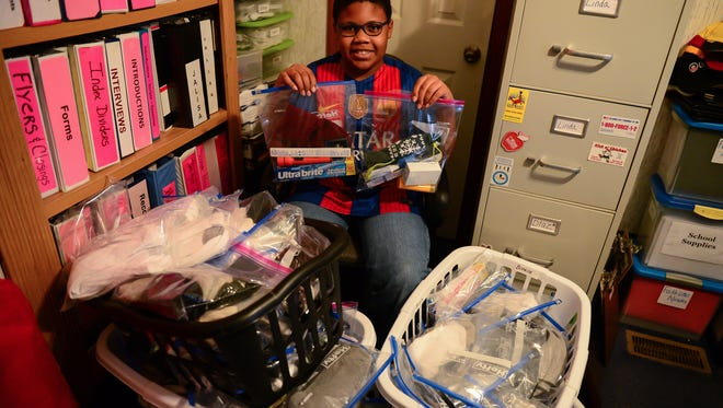 Daeveon Deshields, 11, Started a new project calledProject H.O.O.P., or helping out other people, Deshields  aimed to fill 1,000 gallon sized zip block bags with supplies donated for the homeless during 2016.He surpassed his goal by hitting 1,015 on Dec. 28.