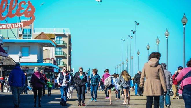 The Rehoboth Beach boardwalk Monday, Feb. 20, 2017.