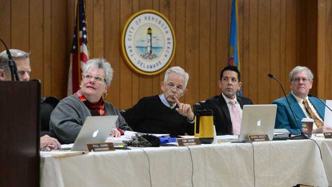 Rehoboth Beach commissioners meet Friday, March 17, 2017, at the Rehoboth Volunteer Fire Company.