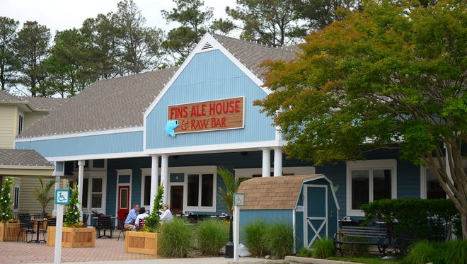 Fins Ale House & Raw Bar located in the Marketplace at Sea Colony in Bethany Beach. Tuesday, May 23, 2017.