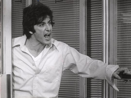 "Al Pacino sweats out his botched bank robbery in ""Dog Day Afternoon."""