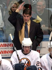 Peter Laviolette, as coach of the New York Islanders in 2002.