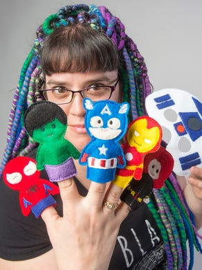My mom crocheted finger puppets : pokemon | 390x292